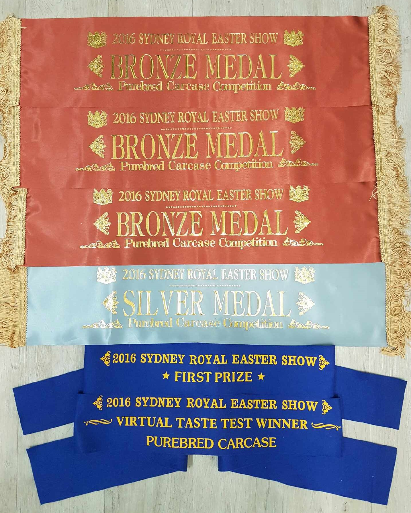 2016 Royal Easter Show Ribbons