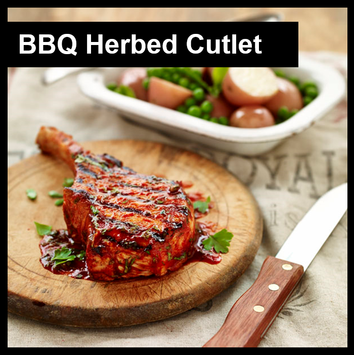 BBQ Herbed Cutlet with Border